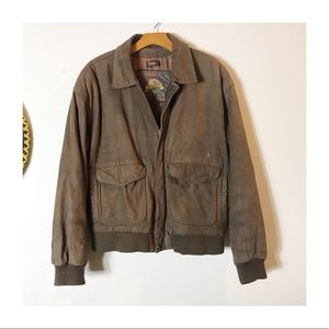 Vintage Leather Thinsulate Bomber🌿